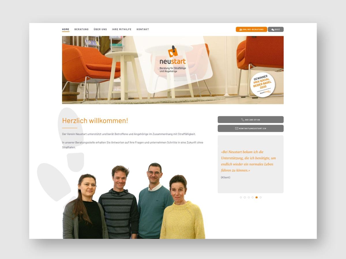 Website Startseite